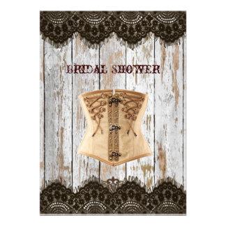 Renaissance Corset country vintage Bridal Shower Personalized Invites