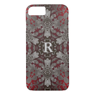 renaissance gothic metallic red and black mandala iPhone 8/7 case