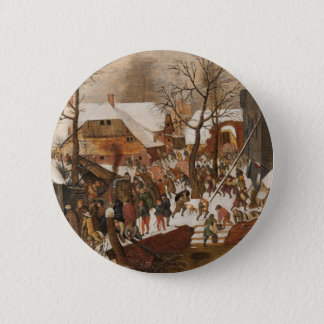Renaissance Holy Nativity 6 Cm Round Badge