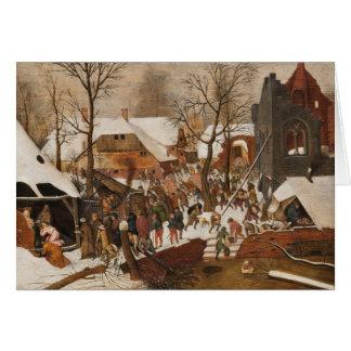 Renaissance Holy Nativity Card