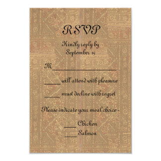 Renaissance Lady and Knight Medieval Wedding RSVP 9 Cm X 13 Cm Invitation Card