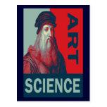 Renaissance Man da Vinci Art Science Postcard