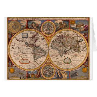 Renaissance Map of the World Card