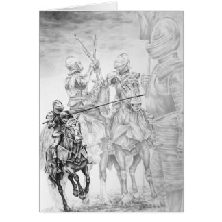 Renaissance Medieval Knight Art by Kelli Swan Card