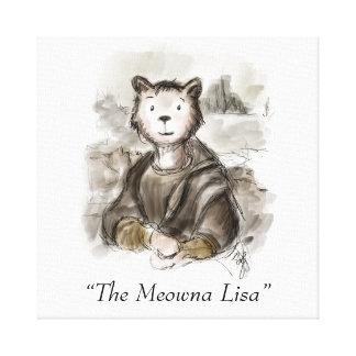 Renaissance Meowna Lisa Cat By Leonardo da Kitty! Canvas Print