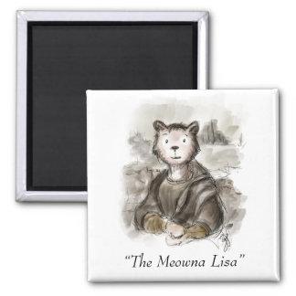 Renaissance Meowna Lisa Cat Magnet