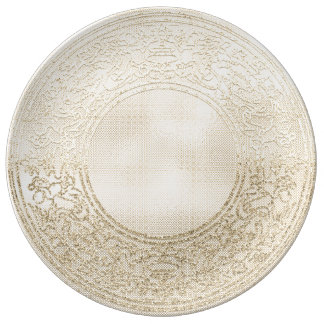 Renaissance Ornament Champagne Gold Angels Plate