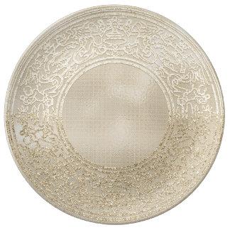 Renaissance Ornament Champagne Ivory Mint Angels Plate