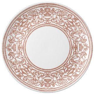Renaissance Ornament Rose Gold Blush Angels Plate
