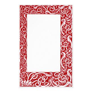 Renaissance Red Stationary Stationery
