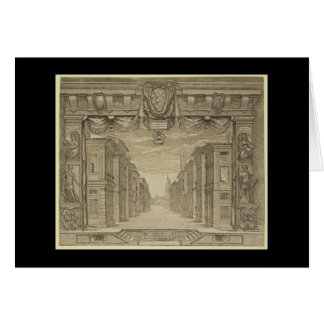 Renaissance Stage Design Card