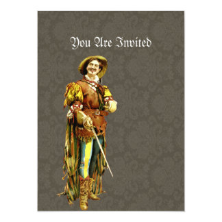 Renaissance Swordsman ~ Vintage Illustration 14 Cm X 19 Cm Invitation Card