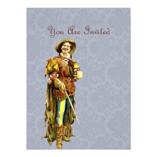 Renaissance Swordsman ~ Vintage Illustration 14 Cm X 19 Cm Invitation Card
