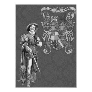 Renaissance Swordsman ~ Vintage Illustration Announcements