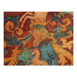 Renaissance Unicorn art Personalized Announcement