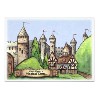 "Renaissance Village 5"" X 7"" Invitation Card"