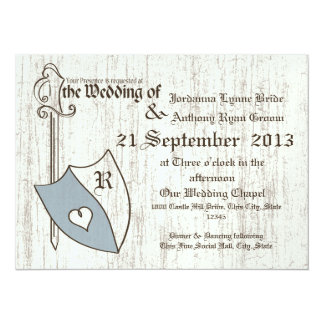 Renaissance Wedding Arms 14 Cm X 19 Cm Invitation Card