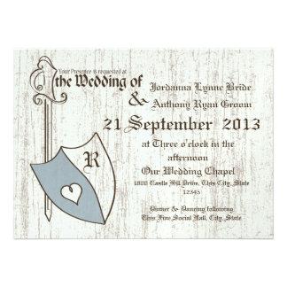 Renaissance Wedding Arms Invites