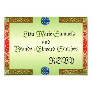 Renaissance Wedding RSVP Cards 9 Cm X 13 Cm Invitation Card