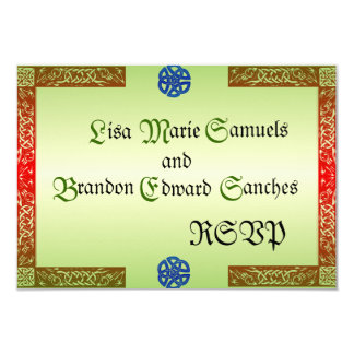 Renaissance Wedding RSVP Cards 9 Cm X 13 Cm Invitation Card