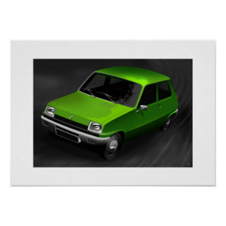 Renault 5 poster