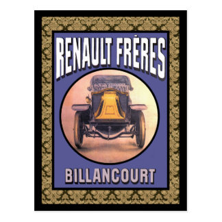 Renault Brothers Vintage Car Postcard