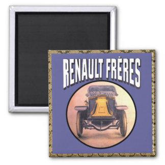 Renault Brothers Vintage Car Square Magnet