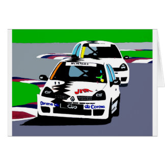 Renault Clio Racing Cars Card