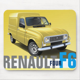 Renault R4 F6 Van illustrated Mouse Mat