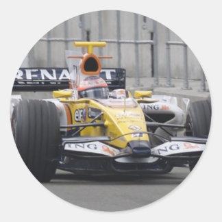 renault round sticker