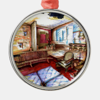 """""""Rendering"""" by Thompson Kellett Silver-Colored Round Decoration"""