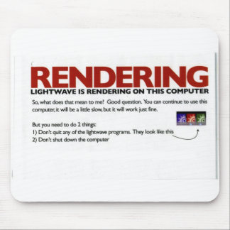 rendering mouse pad