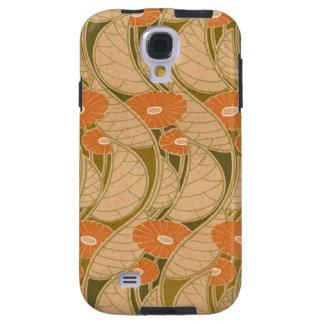 Rene Beauclair's Art Nouveau Orange Daisy Galaxy S4 Case