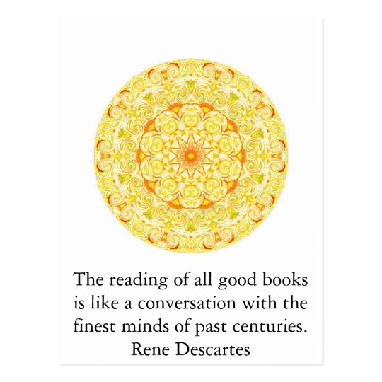 Rene Descartes Literature Quote Postcard