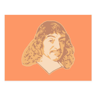 Rene Descartes Postcard