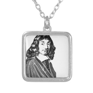 Rene Descartes Silver Plated Necklace