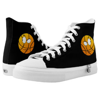 ReneeAB9 Men's Baller Emoji High Top Sneaker Printed Shoes