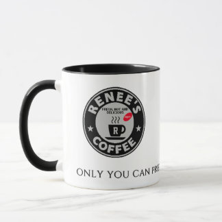 Renee's Coffee Club White Mug 58101