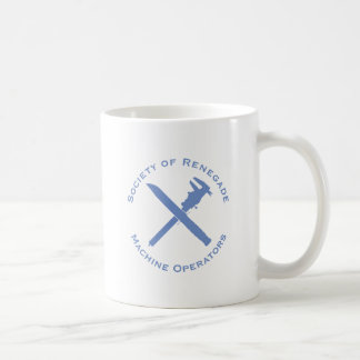 Renegade Machine Operator with Calipers and Knife Coffee Mug