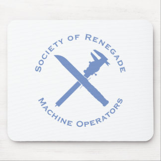 Renegade Machine Operator with Calipers and Knife Mouse Pad