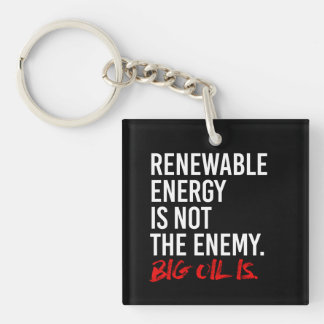 RENEWABLE ENERGY IS NOT THE ENEMY - - Pro-Science  Key Ring