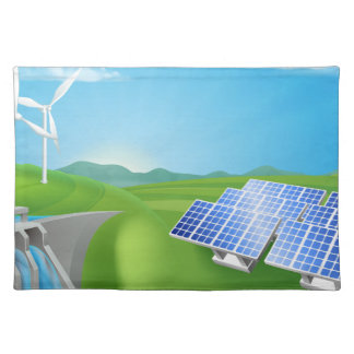 Renewable Energy or Power Generation Methods Placemat
