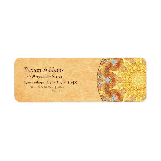 Renewal Mandala Return Address Avery Label