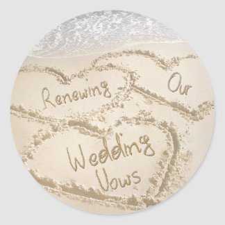 Renewing Our Wedding Vows ROUND STICKERS