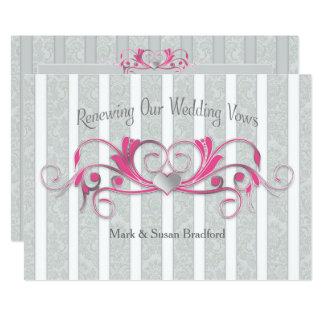 Renewing Wed. Vows Invitation - Grey/Pink/Elegant