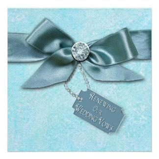 RENEWING WEDDING VOWS INVITATION - BLUE RIBBON CUSTOM INVITATIONS