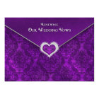 RENEWING WEDDING VOWS - Invitation-Sealedw/Jewel Card