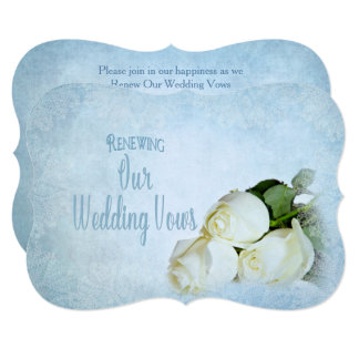 Renewing Wedding Vows Invitation - White Roses
