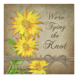 RENEWING WEDDING VOWS - SUNFLOWERS - Tying Knot Card