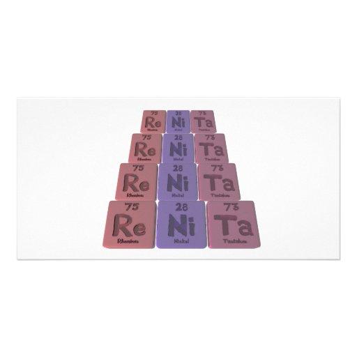 Renita as Rhenium Nickel Tantalum Photo Card